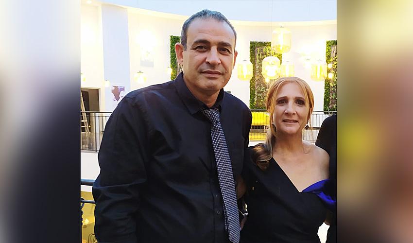 """(מימין) ענת כהן - מאושפזת במצב קשה בשערי צדק, (משמאל) יהושע (שוקי) כהן ז""""ל (צילום: באדיבות המשפחה)"""