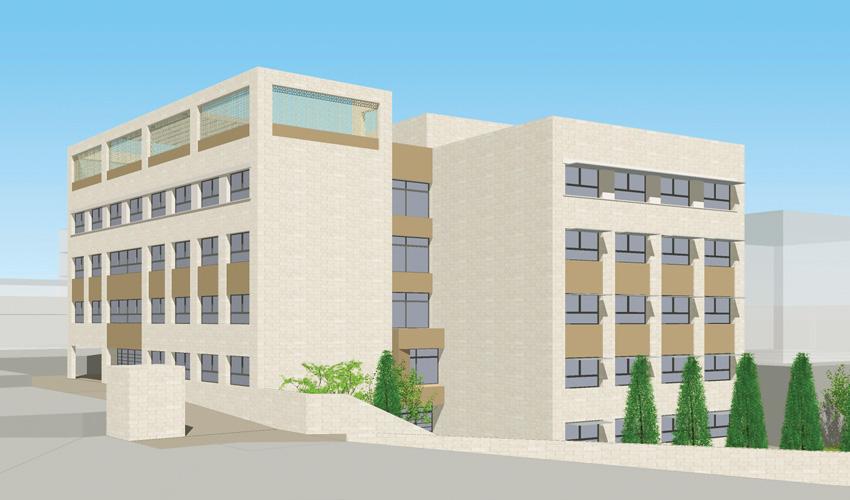 הדמיית בית הספר החדש שיוקם באום טובא (הדמיה: אדריכל יוסי בורנשטיין)