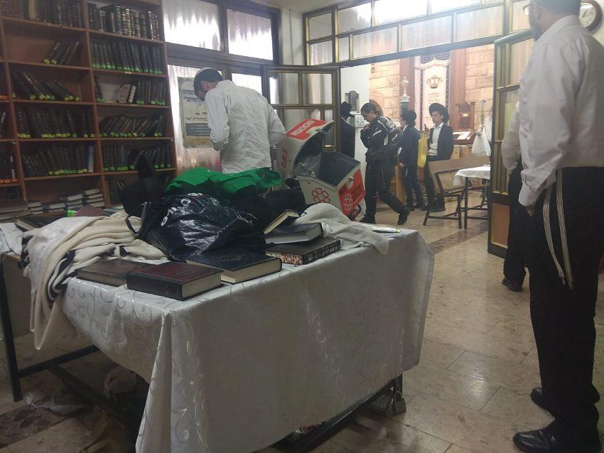 בית הכנסת בגבעת שאול שבו נפל חלון על ראשו של מתפלל (צילום: יוסף גבאי - תיעוד מבצעי איחוד הצלה)