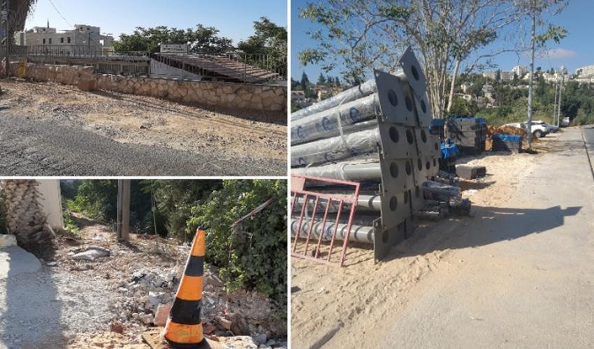 כבישים משובשים ומדרכות שבורות: מדוע הופסקו העבודות ברחוב הצר בקרית היובל?