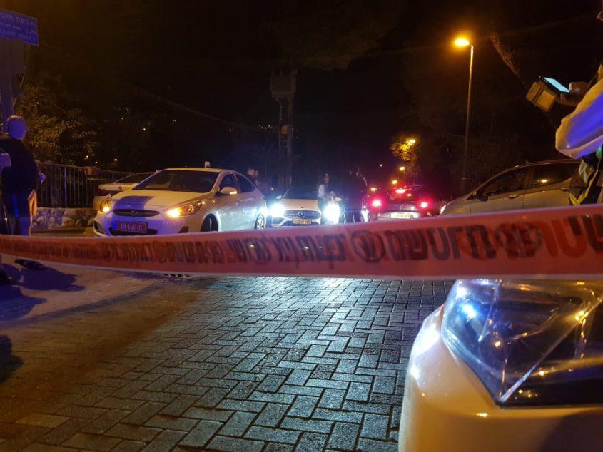 זירת הרצח במוצא (צילום: דוברות המשטרה)