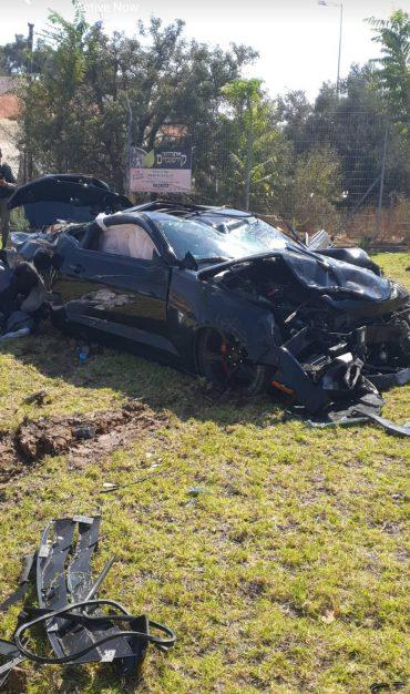 זירת התאונה הקטלנית בכביש בגין (צילום: פרטי)