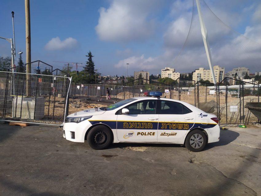 """שדרות שז""""ר, אכיפה משטרתית בכניסה לעיר (צילום: שלומי הלר)"""
