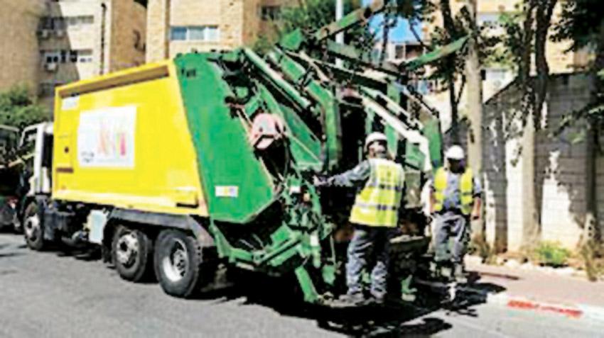 משאית זבל (צילום: אגף התברואה, עיריית ירושלים)