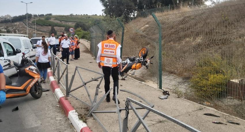 התאונה הקטלנית בארמון הנציב: רוכב אופנוע נהרג