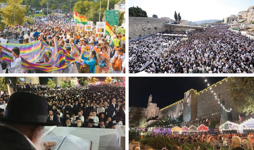 בעשרה ימים: למעלה ממיליון תיירים ומבקרים הגיעו לירושלים