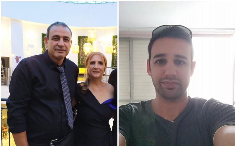 """ניב כהן, ענת כהן ושוקי כהן ז""""ל (צילומים: מתוך פייסבוק, באדיבות המשפחה)"""