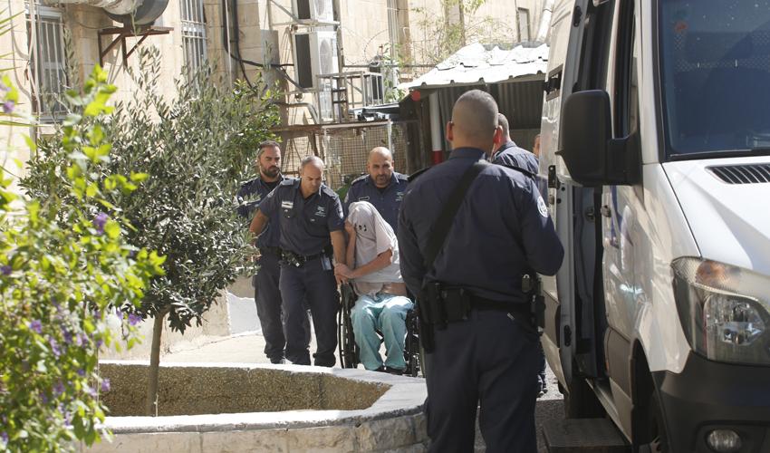 אלירן מלול, הבוקר בבית משפט השלום בירושלים (צילום: אוליבייה פיטוסי)