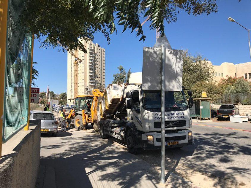 בית הכנסת הלא חוקי ברחוב תורה ועבודה (צילום: יפעת לוי)