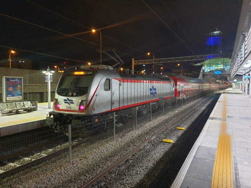 נסיעת הרצה קו הרכבת ירושלים-תל אביב (צילום: רכבת ישראל)