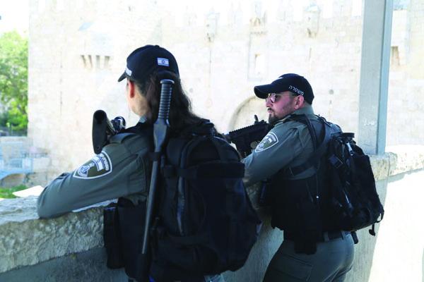 כוחות הביטחון בכוננות (צילום: דוברות המשטרה)