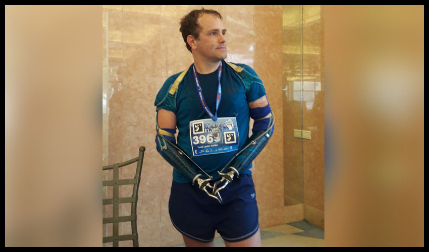 """יובל לסטר קידר ז""""ל, סיום חצי מרתון טבריה 2019 (צילום: אלבום פרטי)"""