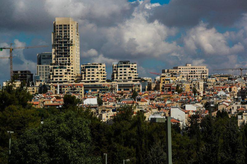 מרכז העיר, מבט מהכנסת (צילום: אורן בן חקון)