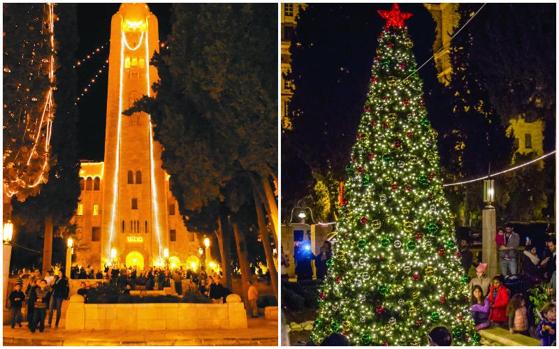 """חג המולד בימק""""א בשנה שעברה (צילומים: באדיבות ימק""""א הבינלאומית ירושלים, אור דוגה)"""