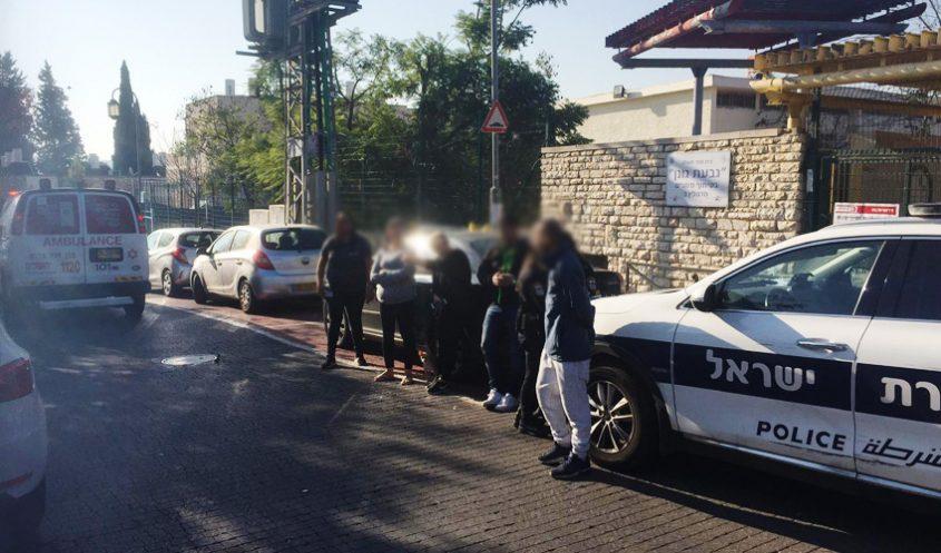 תאונה ברחוב הנוטרים סמוך לגבעת גונן (צילום: פרטי)