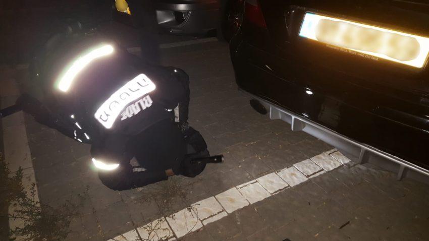מבצע משטרתי נגד מרוצי מכוניות (צילום: דוברות המשטרה)