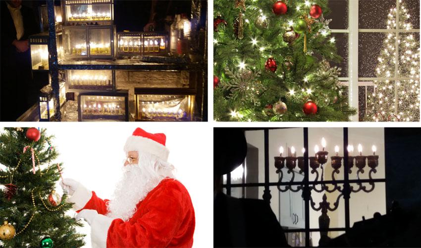 אילוסטרציה סיורי חנוכיות וחג המולד (צילום: א.ס.א.פ קריאייטיב INGIMAGE, מויש מעוז)