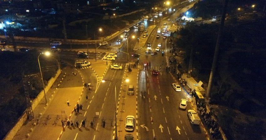 חסימות הכבישים בעקבות הילולת רחל אימנו (צילום: דוברות המשטרה)