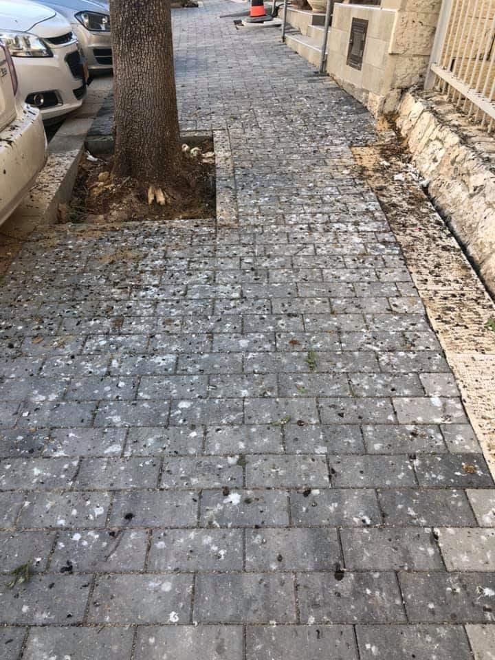 מכת עורבים ברחוב אנוסי משהד, ארמון הנציב (צילום: פרטי)