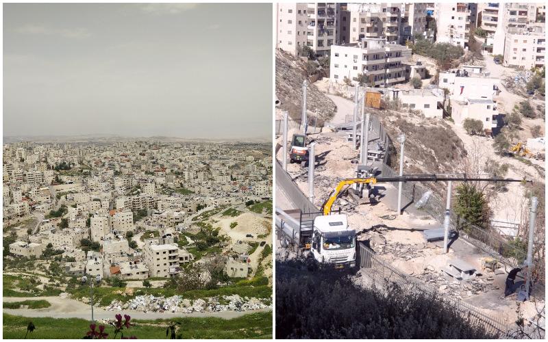 העבודות להקמת הגן בעיסאוויה, עיסאוויה (צילומים עיריית ירושלים, Hidro מתוך ויקיפדיה)