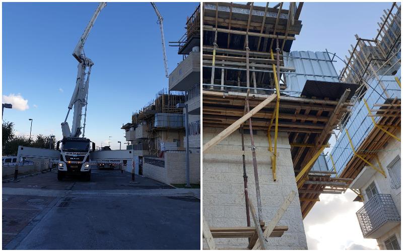 הבנייה ברחוב אליהו מרידור (צילומים: פרטי)