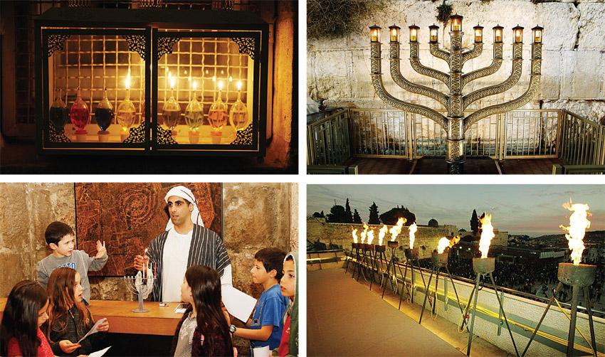 חנוכה בירושלים (צילומים באדיבות הקרן למורשת הכותל, ריקי רחמן)