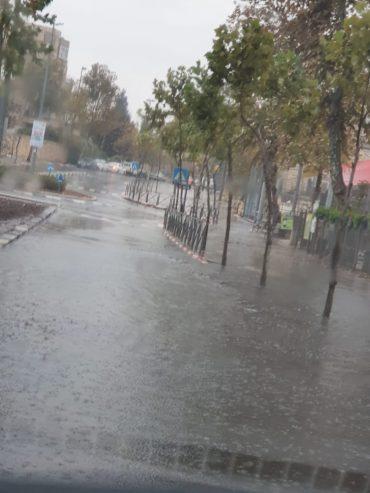 הצפות בשכונת גילה (צילום: פרטי)
