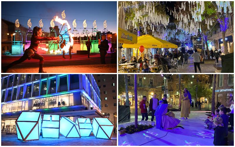 פסטיבל אורות גבוהים במרכז העיר (צילומים: אינטלקט)
