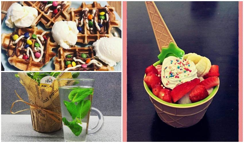 גלידה, ופל בלגי, תה - התפריט המושלם לחורף (צילומים: מיכל פישמן-רואה, בתחן אכדרי)