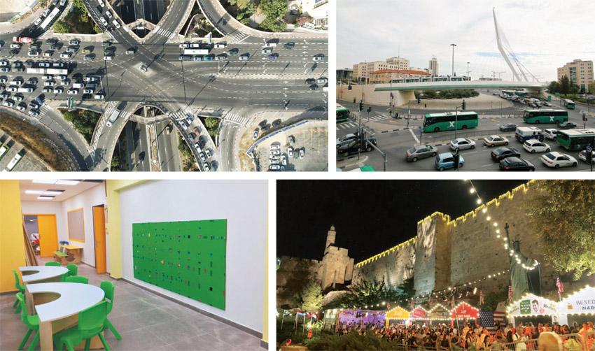 """הכניסה לעיר, פסטיבל האוכל סמוך לחומות העיר העתיקה, מחלף קרית משה, מרחב לימוד ביפה נוף (ׁצילומים: ארנון בוסאני, יח""""צ, TSR)"""