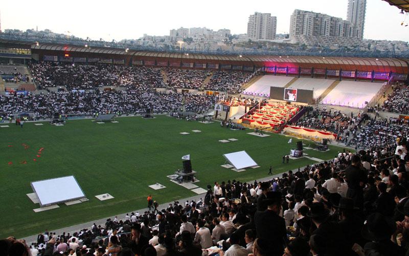"""אירוע סיום הש""""ס של סיעת ש""""ס באצטדיון טדי לפני 7 שנים (צילום: יעקב כהן)"""