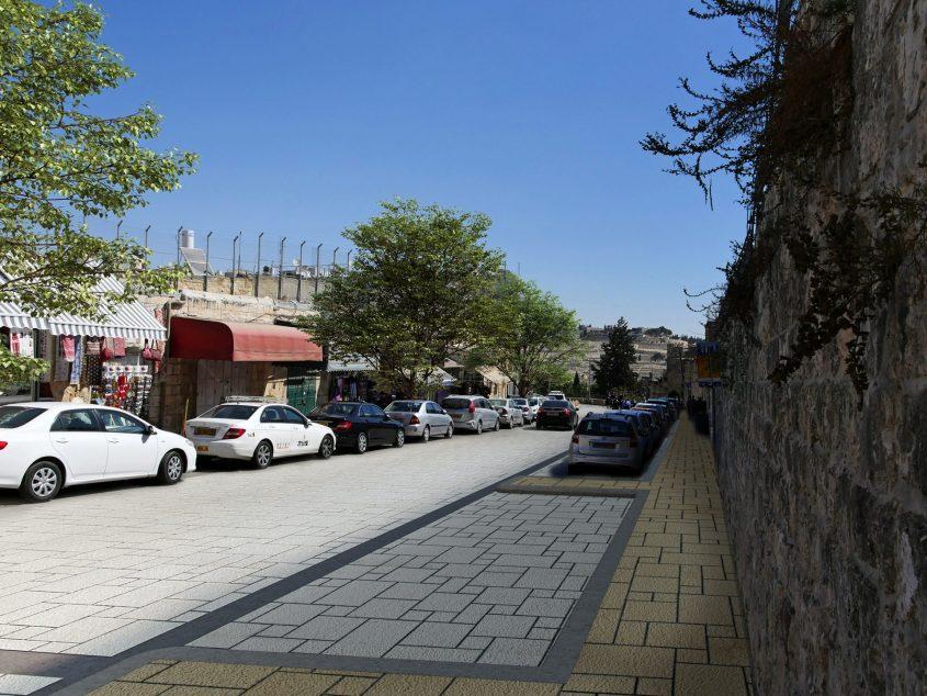 רחוב הפטריארכיה הארמנית, העיר העתיקה בירושלים (הדמיה: ארקאפקט עדי בואנו)