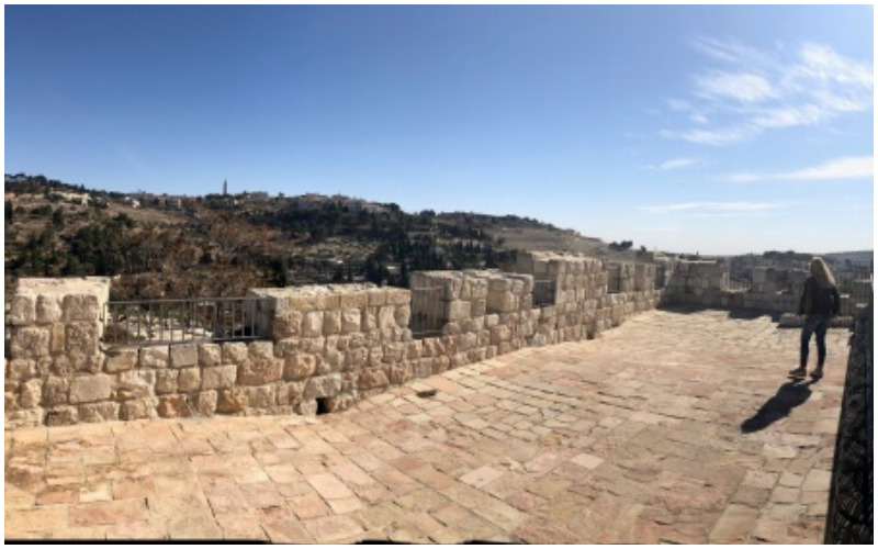 """הנוף הנשקף מטיילת החומות הצפונית (צילום: יח""""צ פמ""""י)"""