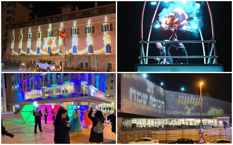 פסטיבל אורות גבוהים לחנוכה במרכז העיר (צילומים: אינטלקט)
