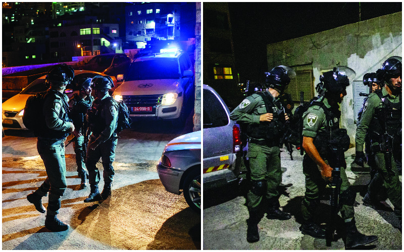 פעילות כוחות הביטחון בעיסאוויה (צילומים: אמיל סלמן)
