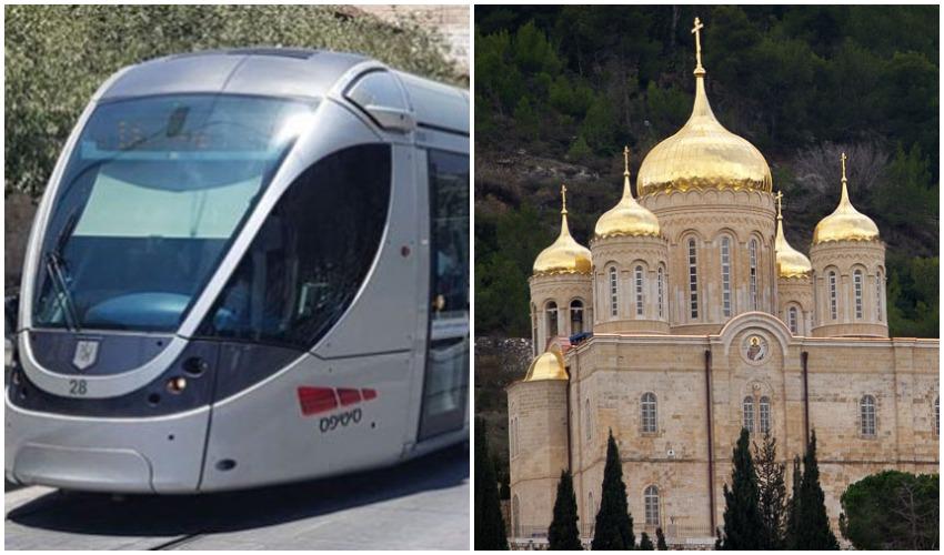 מנזר גורני בעין כרם, הרכבת הקלה (צילומים: Flavio, מתוך ויקיפדיה, באדיבות סיטיפס)