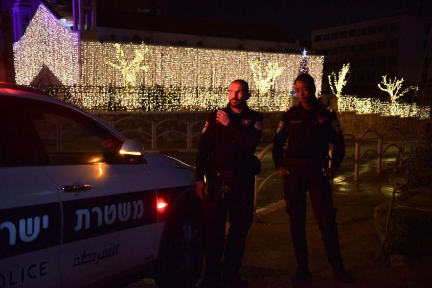 היערכות לקראת חגיגות הסילבסטר והנובי גוד בירושלים (צילום: דוברות המשטרה)