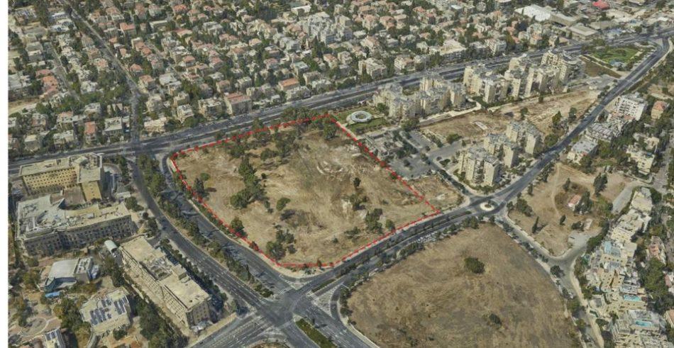 השטח המיועד לשגרירות ארצות הברית בירושלים (צילום: עיריית ירושלים)