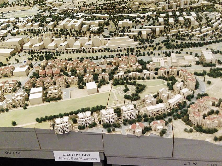 מודל העיר בתל ממד (צילום: אדם אקרמן)