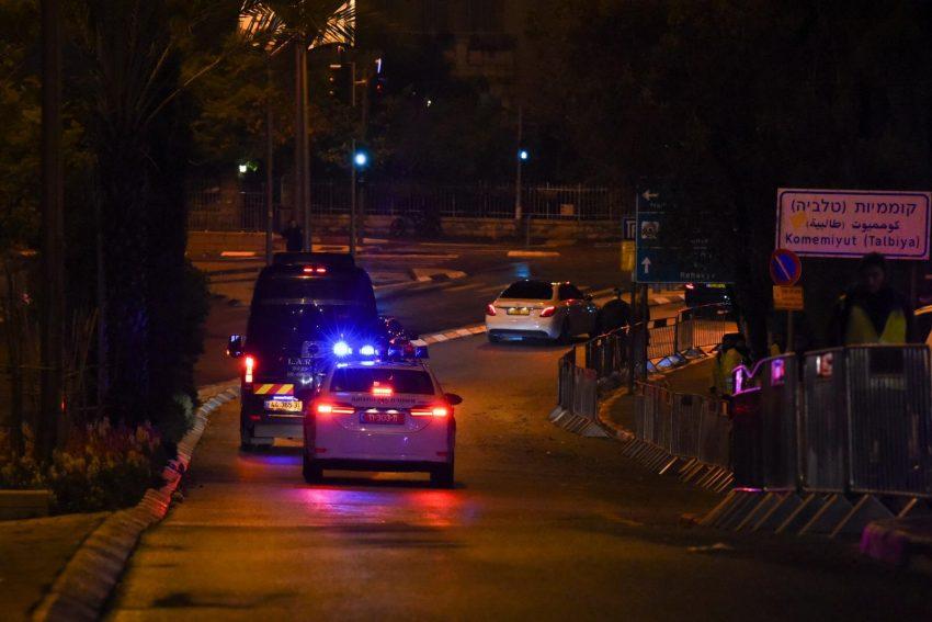 ביקור המנהיגים בירושלים - פורום השואה הבינלאומי. חסימות המשטרה (צילום: דוברות המשטרה)