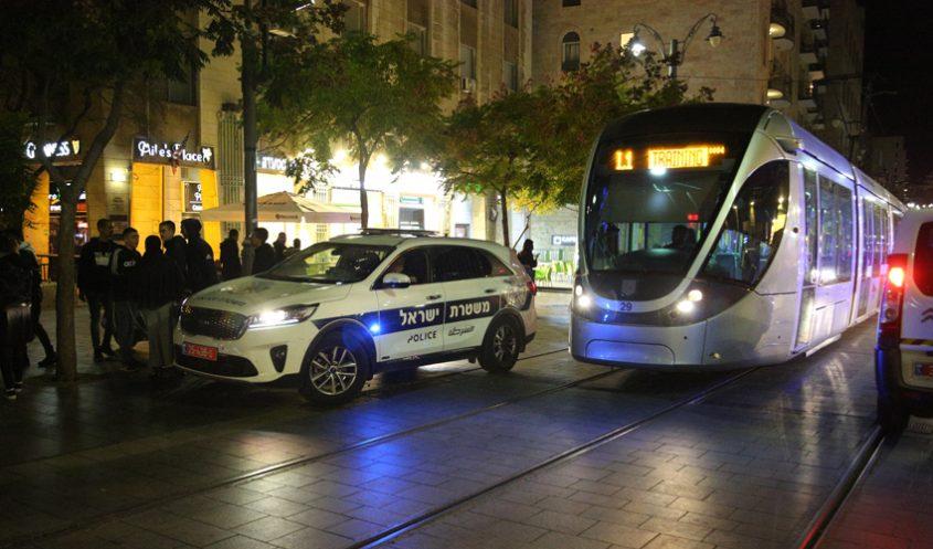 ערב השנה החדשה - סילבסטר, נובי גוד בירושלים (צילום: דוברות המשטרה)