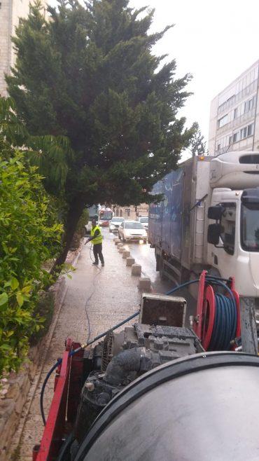 ניקיון העיר (צילום: באדיבות עיריית ירושלים)