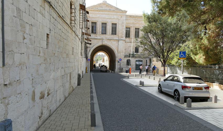 רחוב הפטריארכיה הארמנית, הרובע היהודי, העיר העתיקה בירושלים (הדמיה: אראפקט עדי בואנו)