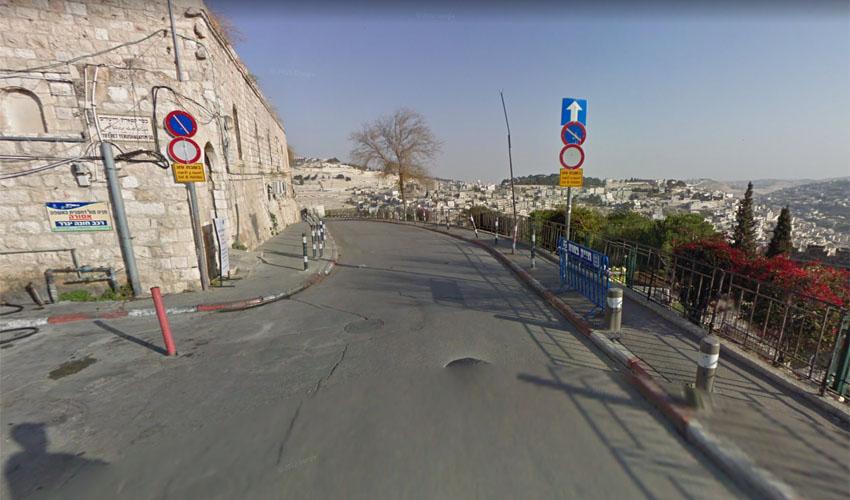 הכניסה לרחוב בתי המחסה (צילום: גוגל מפות)