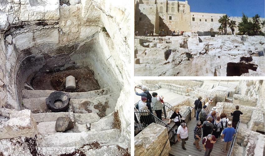 """מסלול המקוואות בגן הארכיאולוגי (צילומים: ד""""ר אדם אקרמן)"""
