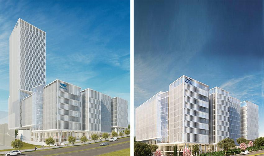 """התוכנית החדשה, התוכנית המקורית (הדמיות: Viewpoint, משה צור אדריכלים בוני ערים בע""""מ)"""