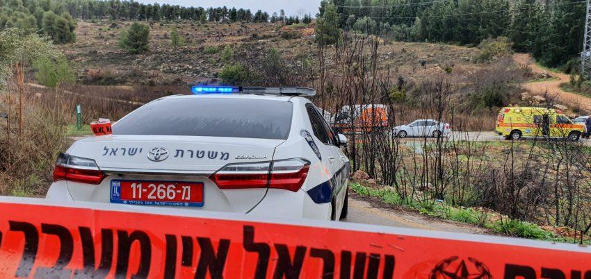 זירת הירי בעמק הארזים (צילום: דוברות המשטרה)