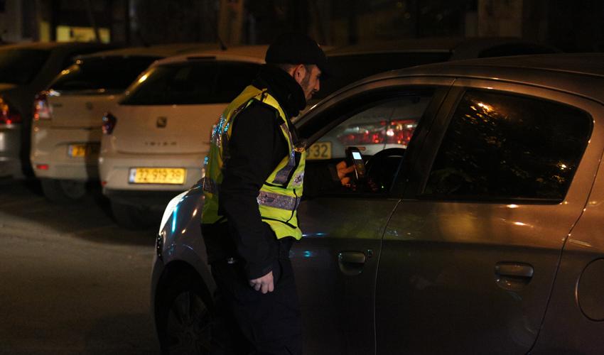 ערב השנה החדשה בירושלים (צילום: דוברות המשטרה)