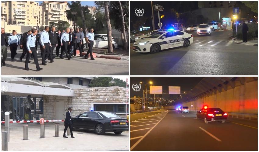 היערכות המשטרה לקראת פורום השואה הבינלאומי בירושלים (צילומים: דוברות המשטרה)