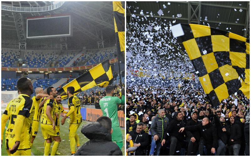 """החגיגה של בית""""ר ירושלים באצטדיון סמי עופר (צילומים: רמי שלוש)"""
